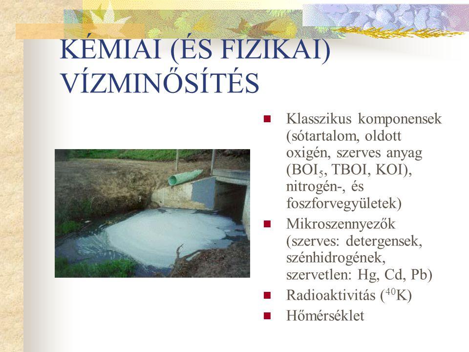 KÉMIAI (ÉS FIZIKAI) VÍZMINŐSÍTÉS
