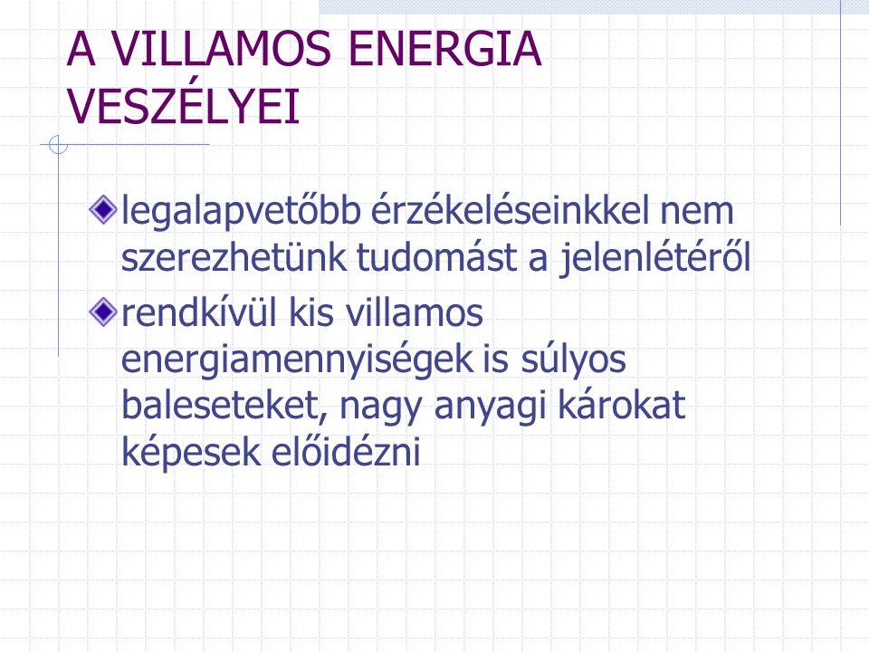 A VILLAMOS ENERGIA VESZÉLYEI