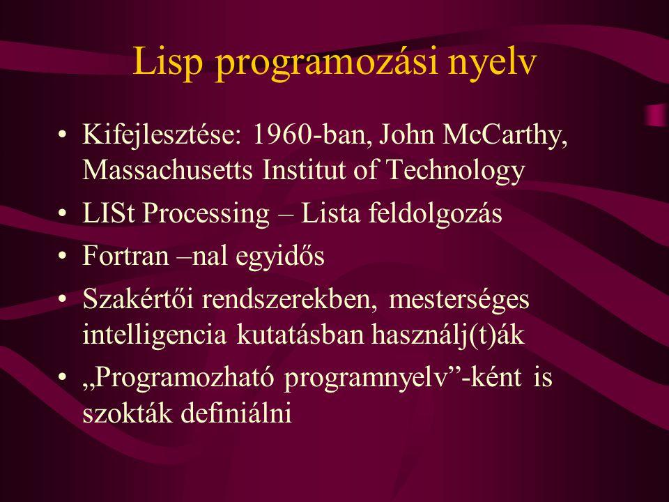 Lisp programozási nyelv
