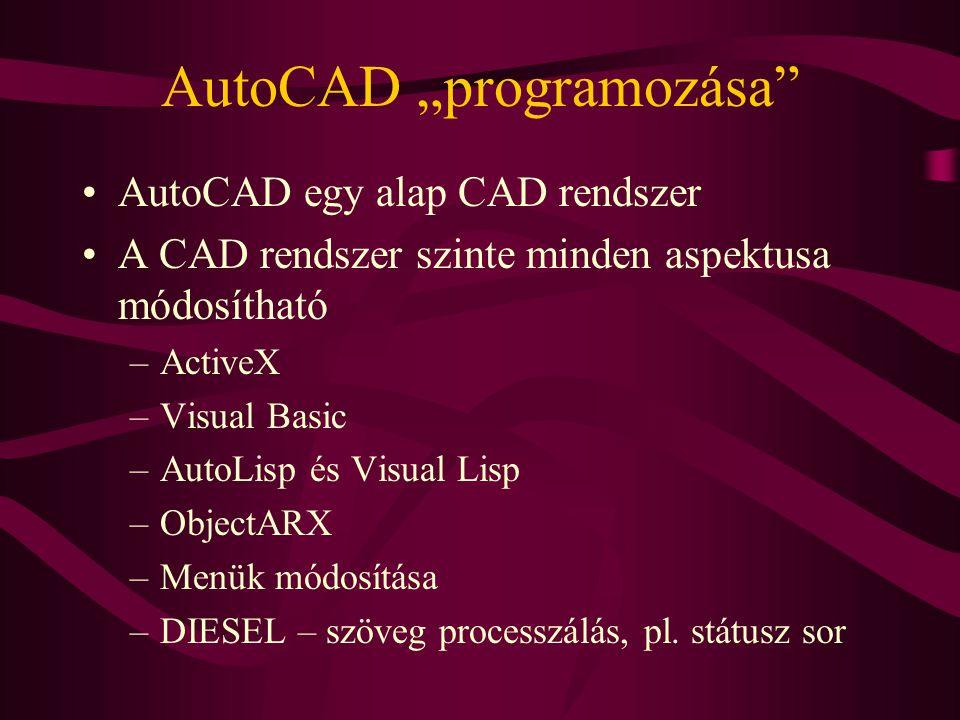 """AutoCAD """"programozása"""