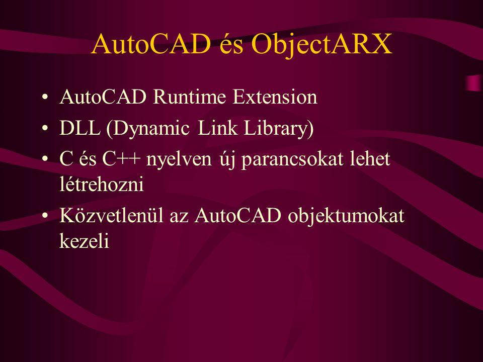 AutoCAD és ObjectARX AutoCAD Runtime Extension