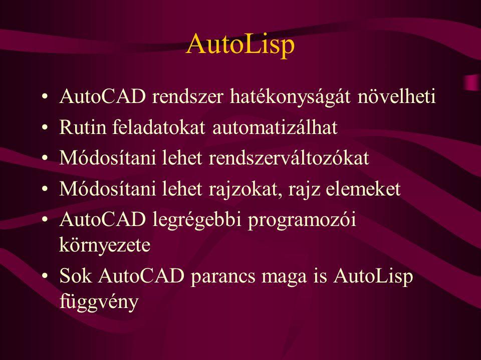 AutoLisp AutoCAD rendszer hatékonyságát növelheti