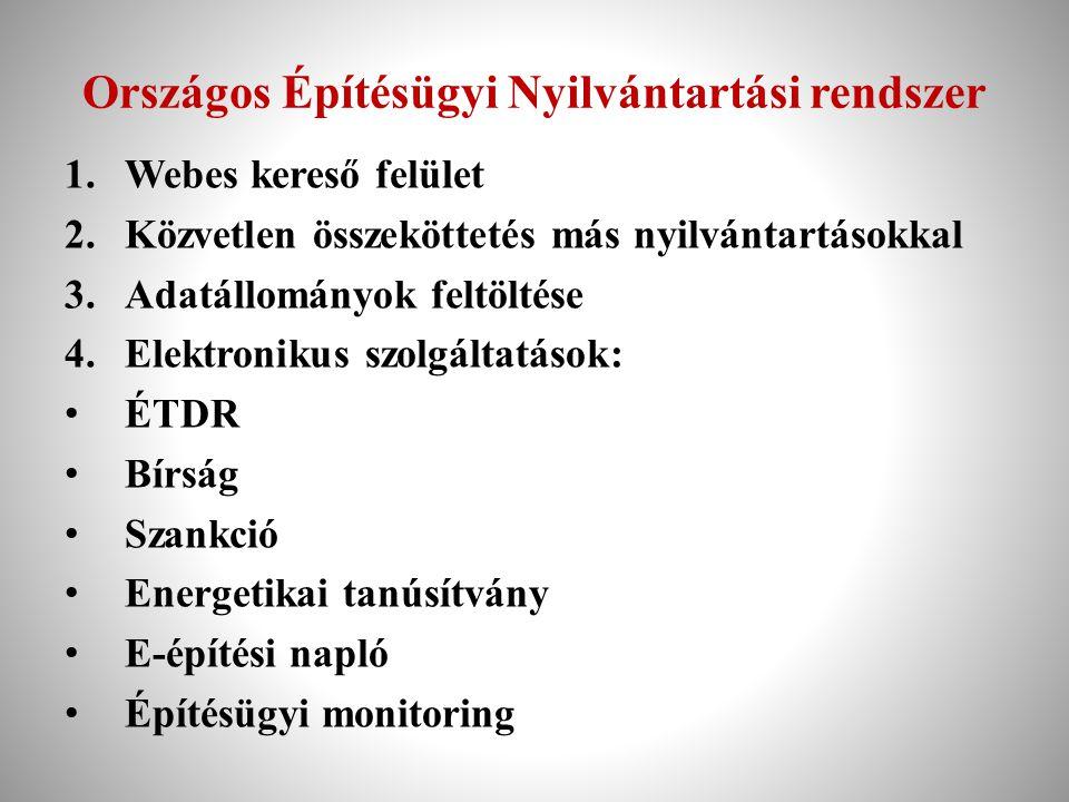 Országos Építésügyi Nyilvántartási rendszer