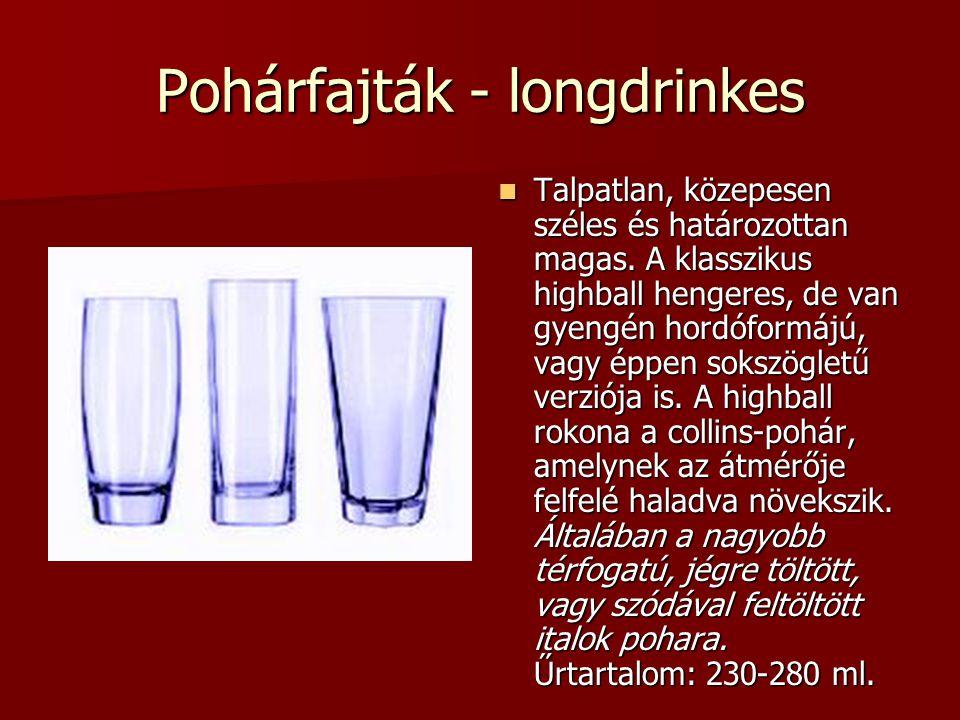 Pohárfajták - longdrinkes