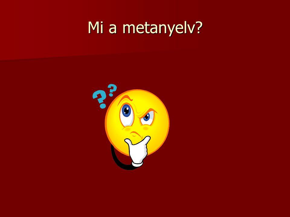 Mi a metanyelv