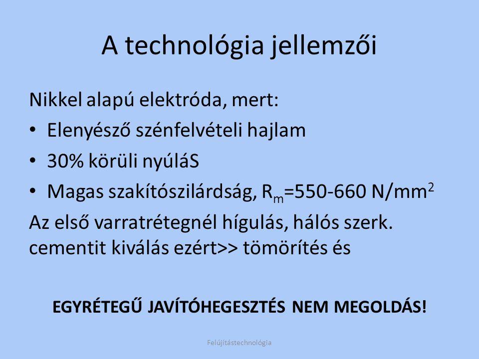 A technológia jellemzői