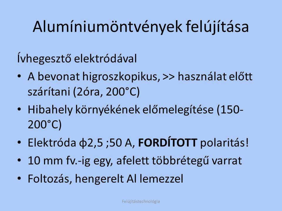 Alumíniumöntvények felújítása