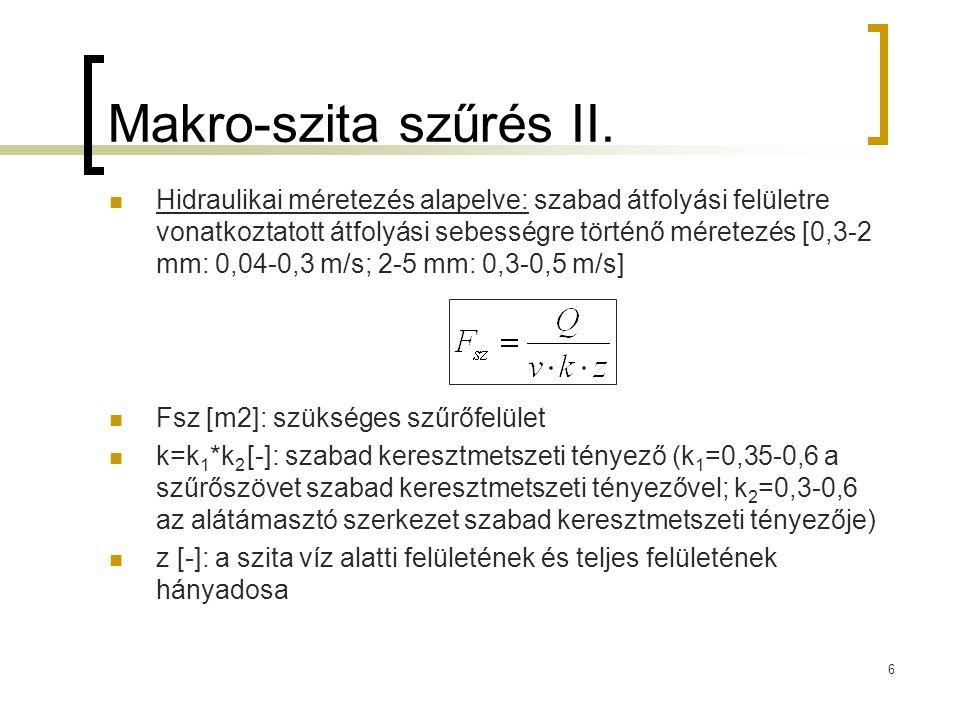 Makro-szita szűrés II.