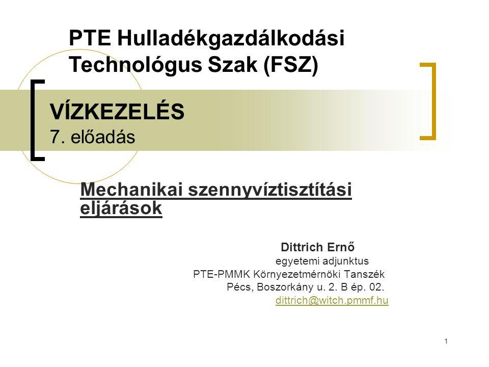 PTE Hulladékgazdálkodási Technológus Szak (FSZ)