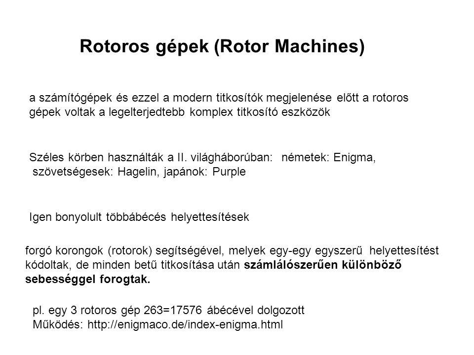Rotoros gépek (Rotor Machines)