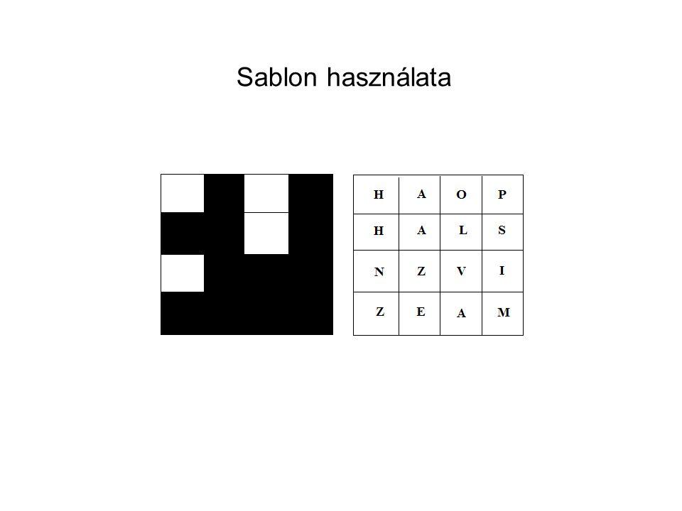 Sablon használata