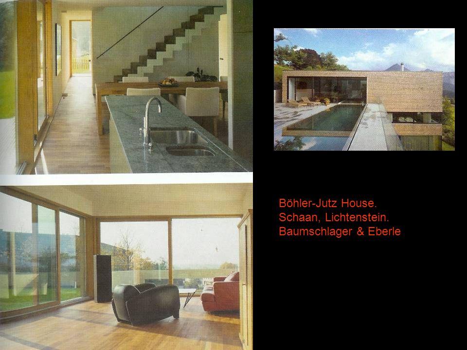Böhler-Jutz House. Schaan, Lichtenstein. Baumschlager & Eberle