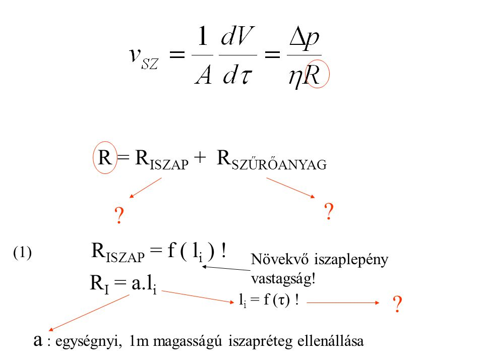 R = RISZAP + RSZŰRŐANYAG RI = a.li