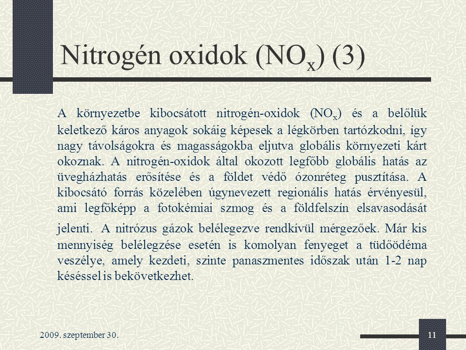 Nitrogén oxidok (NOx) (3)