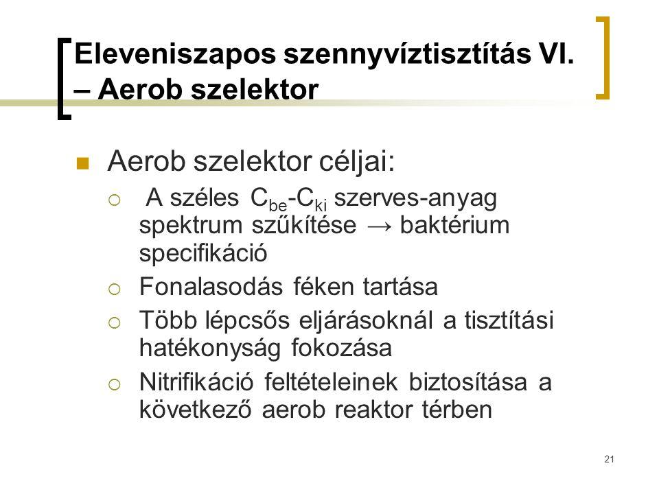 Eleveniszapos szennyvíztisztítás VI. – Aerob szelektor