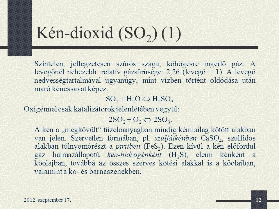 Kén-dioxid (SO2) (1)