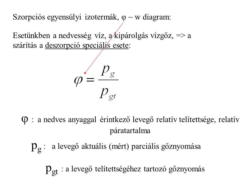pg : a levegő aktuális (mért) parciális gőznyomása