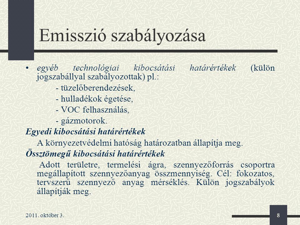 Emisszió szabályozása