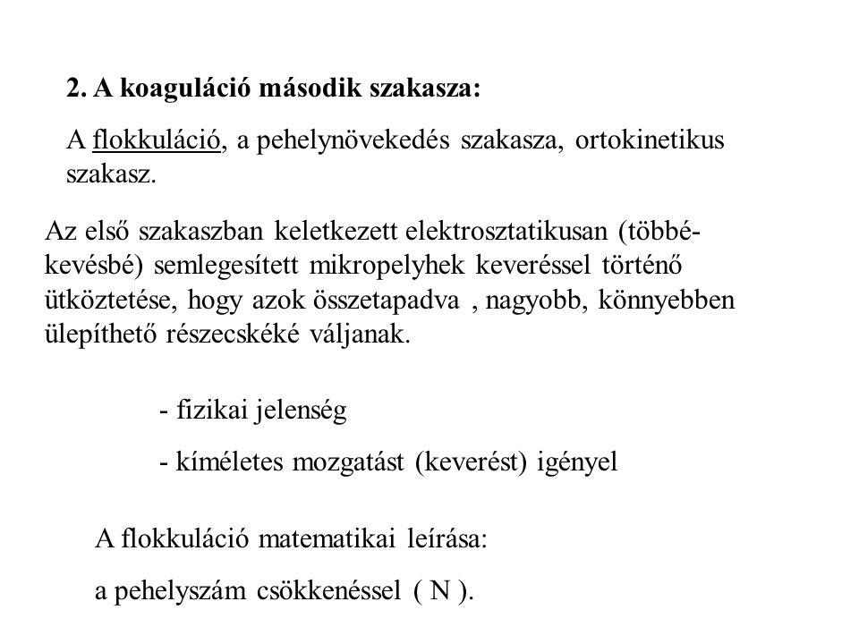 2. A koaguláció második szakasza: