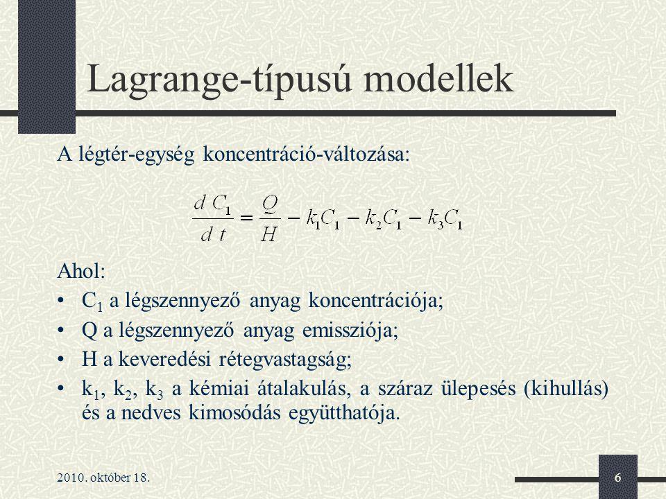 Lagrange-típusú modellek