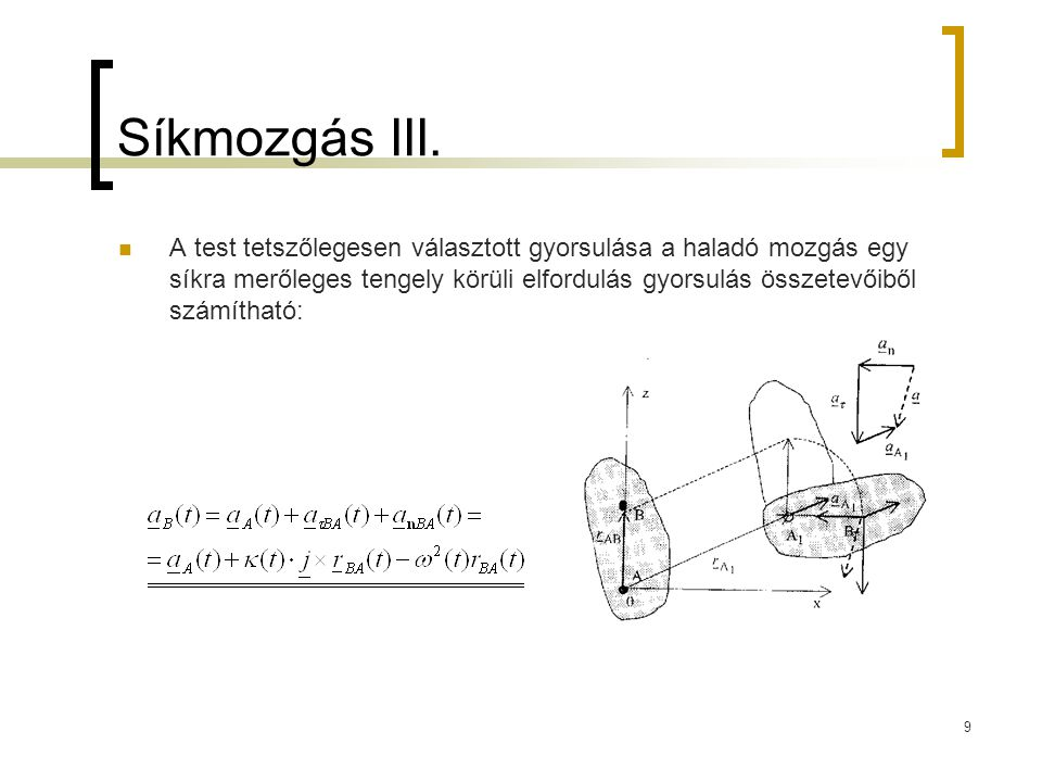 Síkmozgás III.