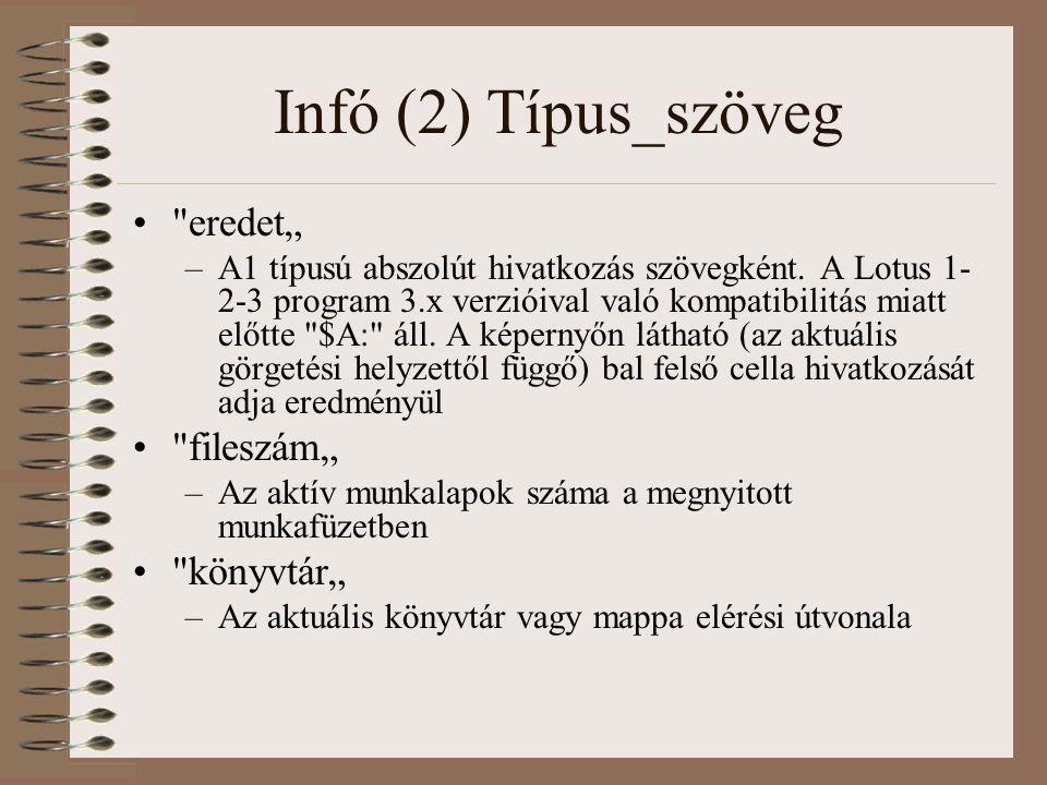 """Infó (2) Típus_szöveg eredet"""" fileszám"""" könyvtár"""""""