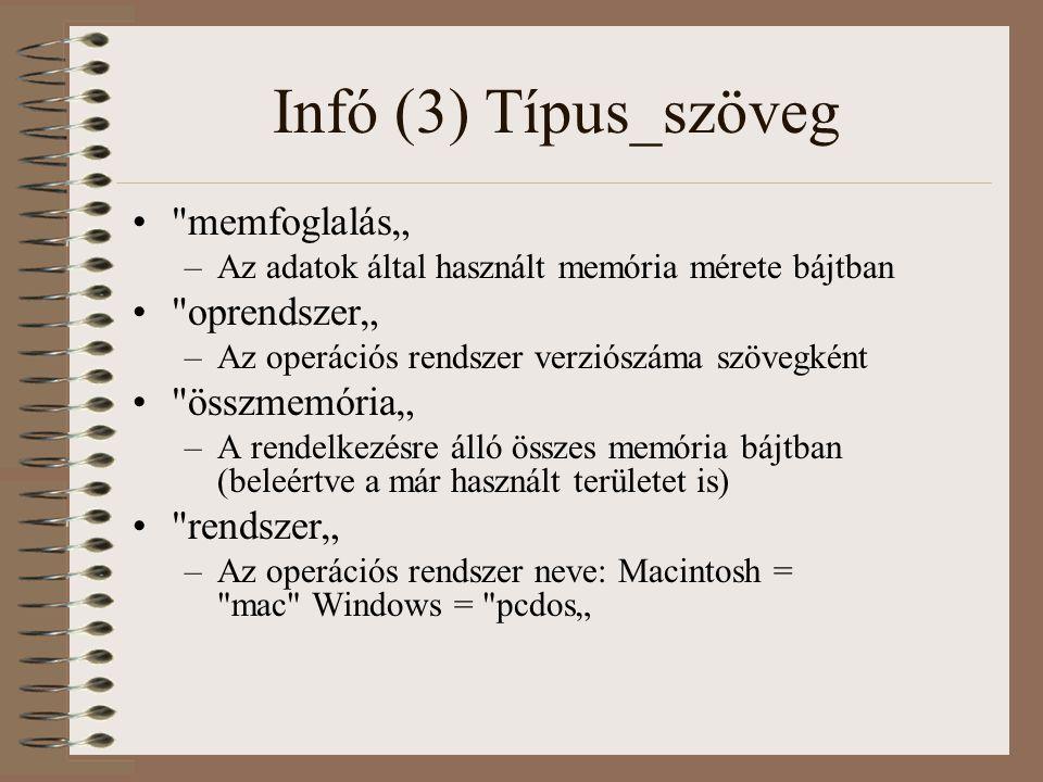 """Infó (3) Típus_szöveg memfoglalás"""" oprendszer"""" összmemória"""""""