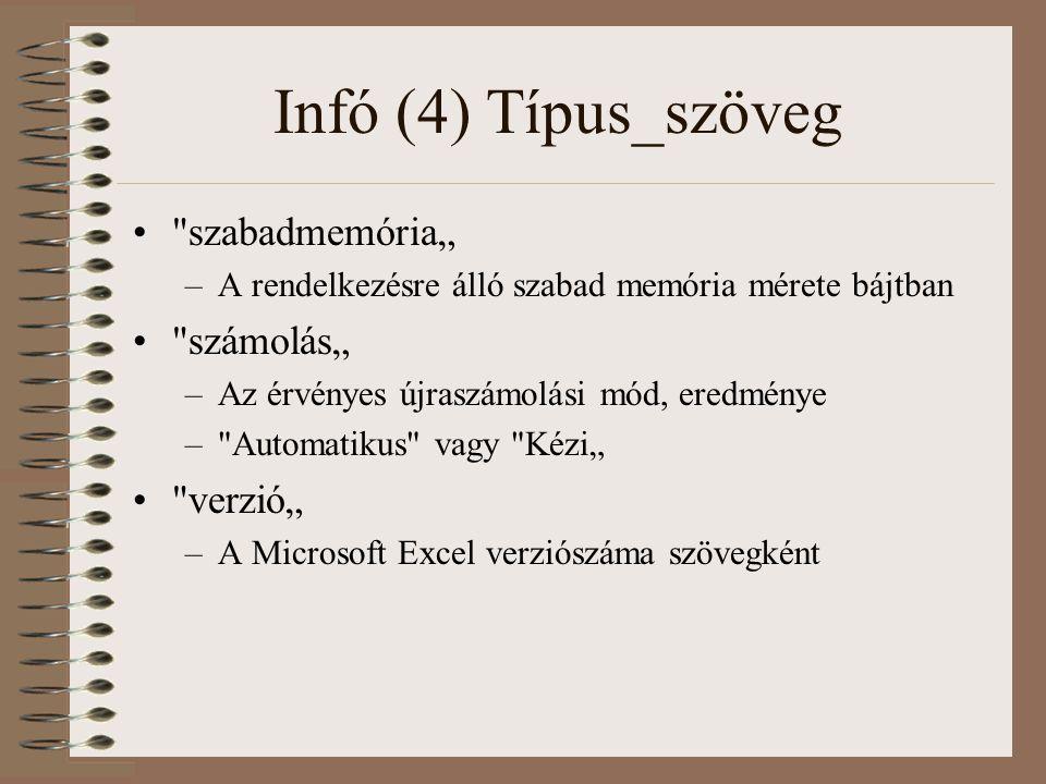 """Infó (4) Típus_szöveg szabadmemória"""" számolás"""" verzió"""""""