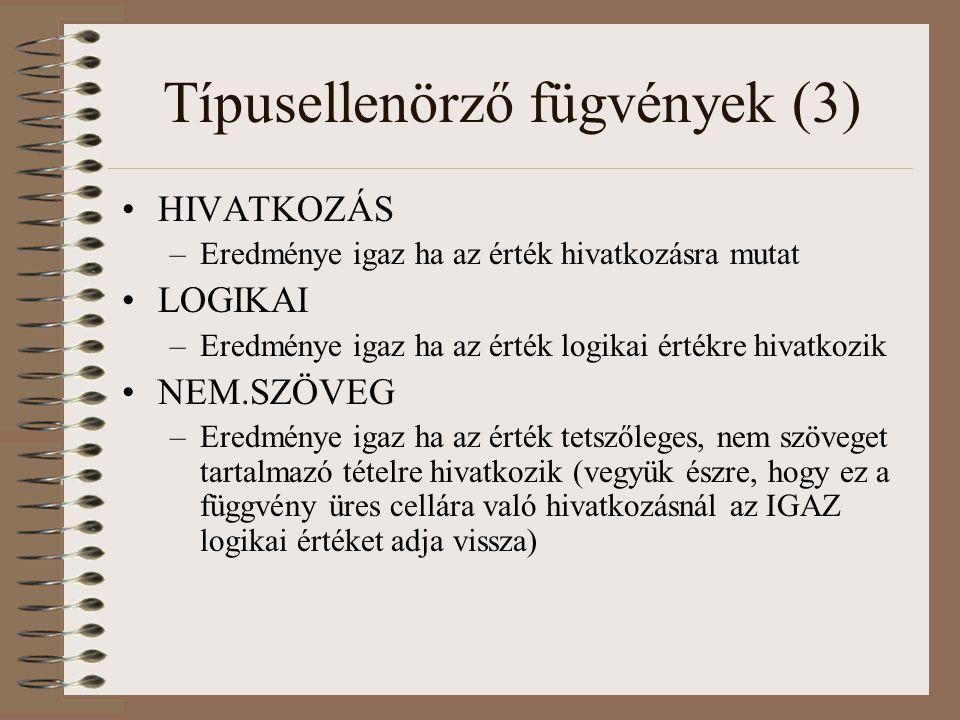 Típusellenörző fügvények (3)