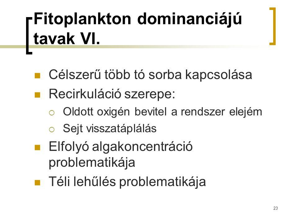Fitoplankton dominanciájú tavak VI.