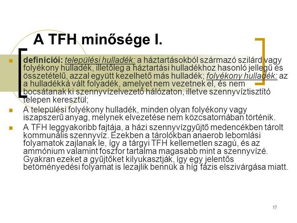 A TFH minősége I.