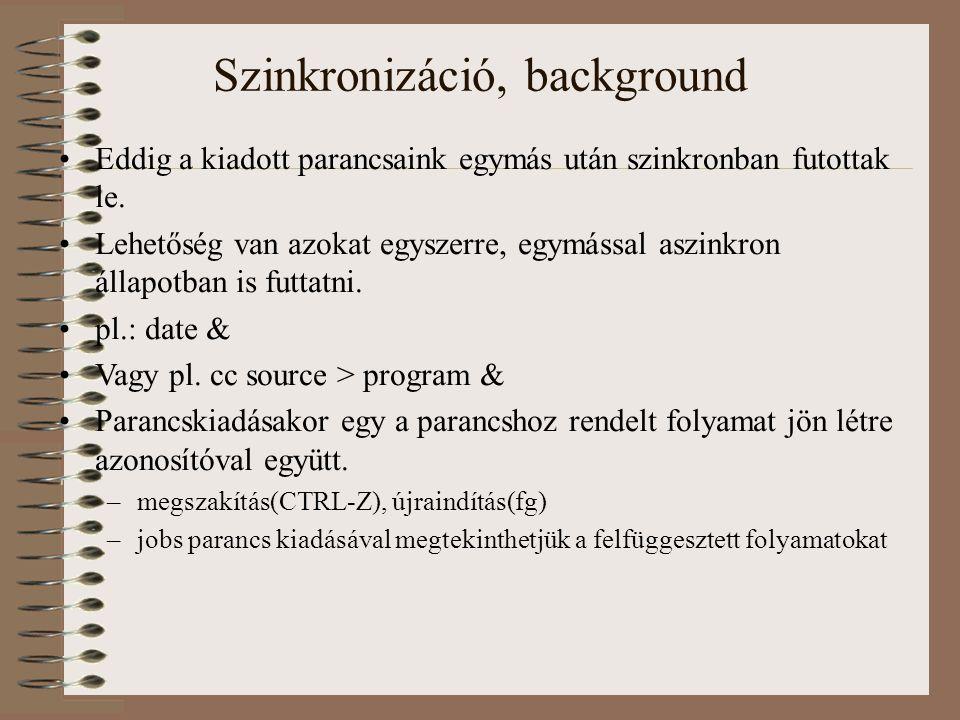 Szinkronizáció, background