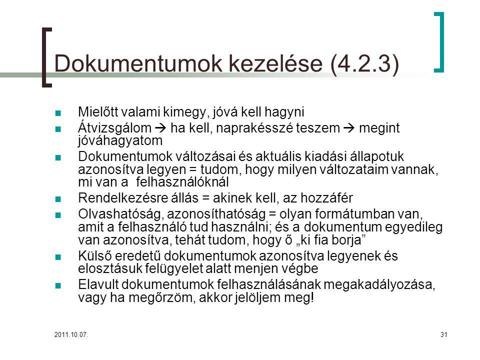 Dokumentumok kezelése (4.2.3)