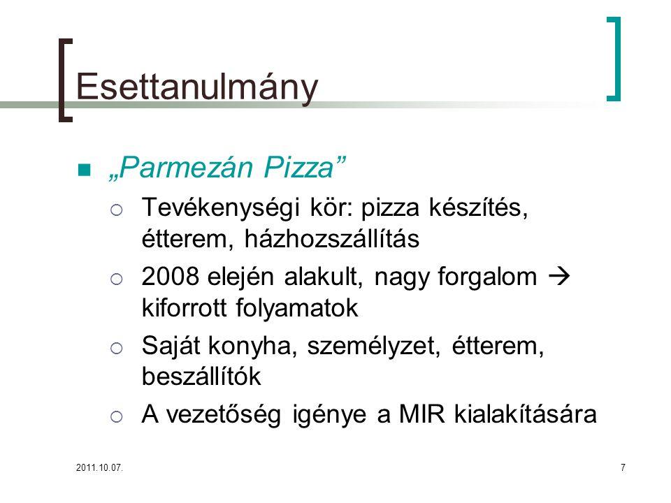 """Esettanulmány """"Parmezán Pizza"""
