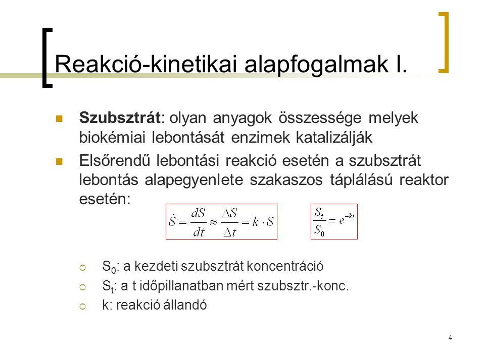 Reakció-kinetikai alapfogalmak I.