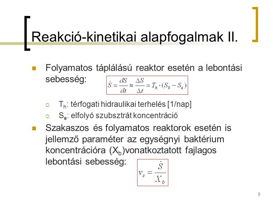 Reakció-kinetikai alapfogalmak II.