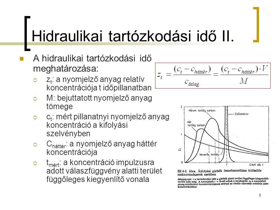 Hidraulikai tartózkodási idő II.