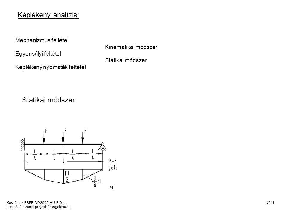 Képlékeny analízis: Statikai módszer: Mechanizmus feltétel