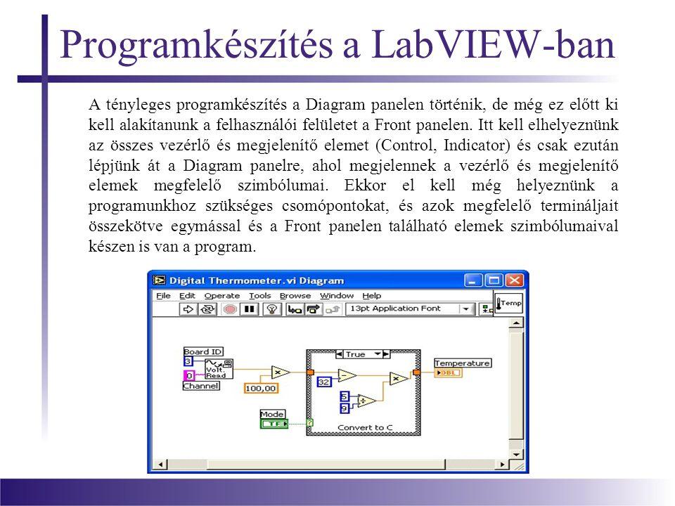 Programkészítés a LabVIEW-ban