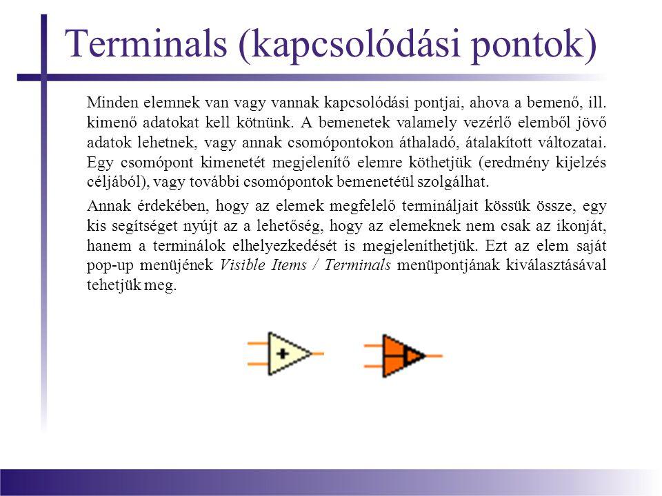 Terminals (kapcsolódási pontok)