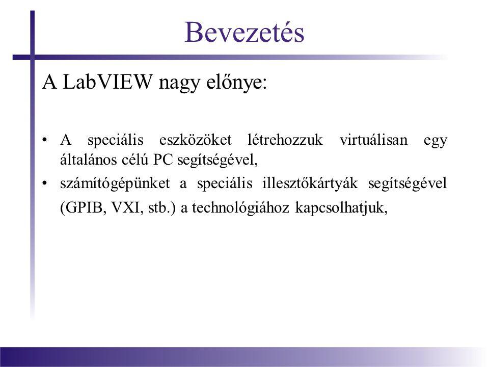 Bevezetés A LabVIEW nagy előnye: