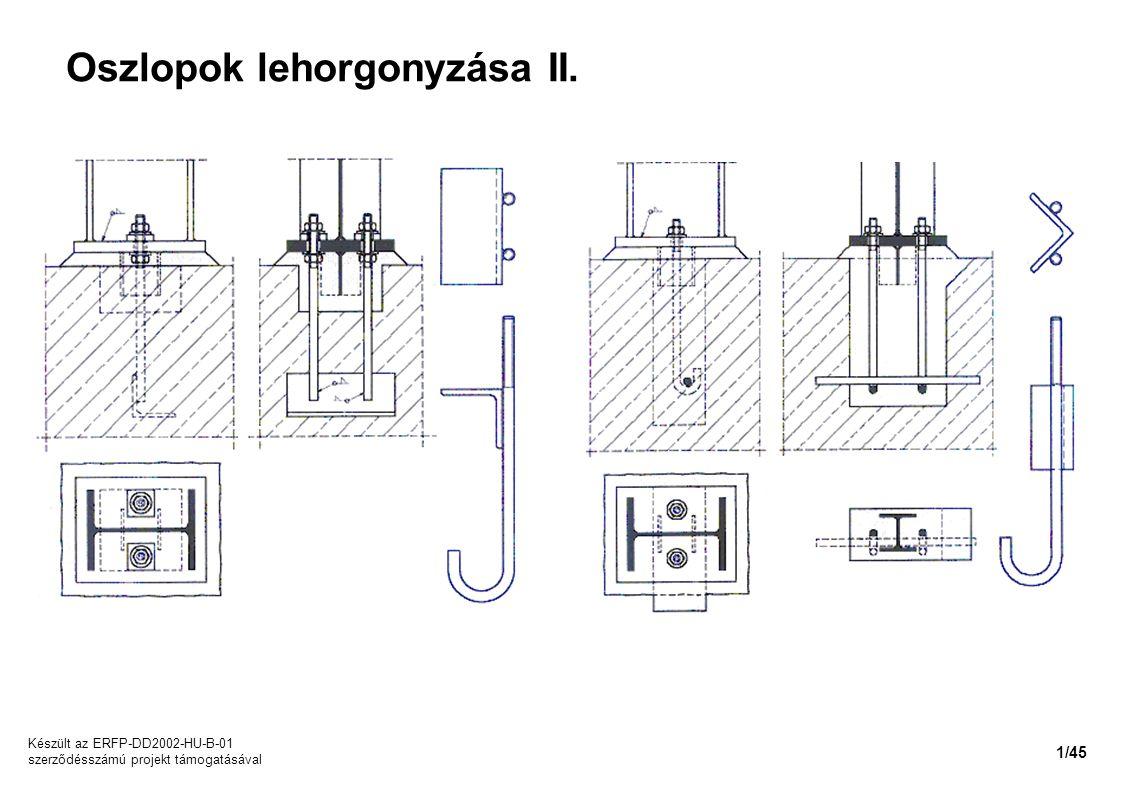 Oszlopok lehorgonyzása II.