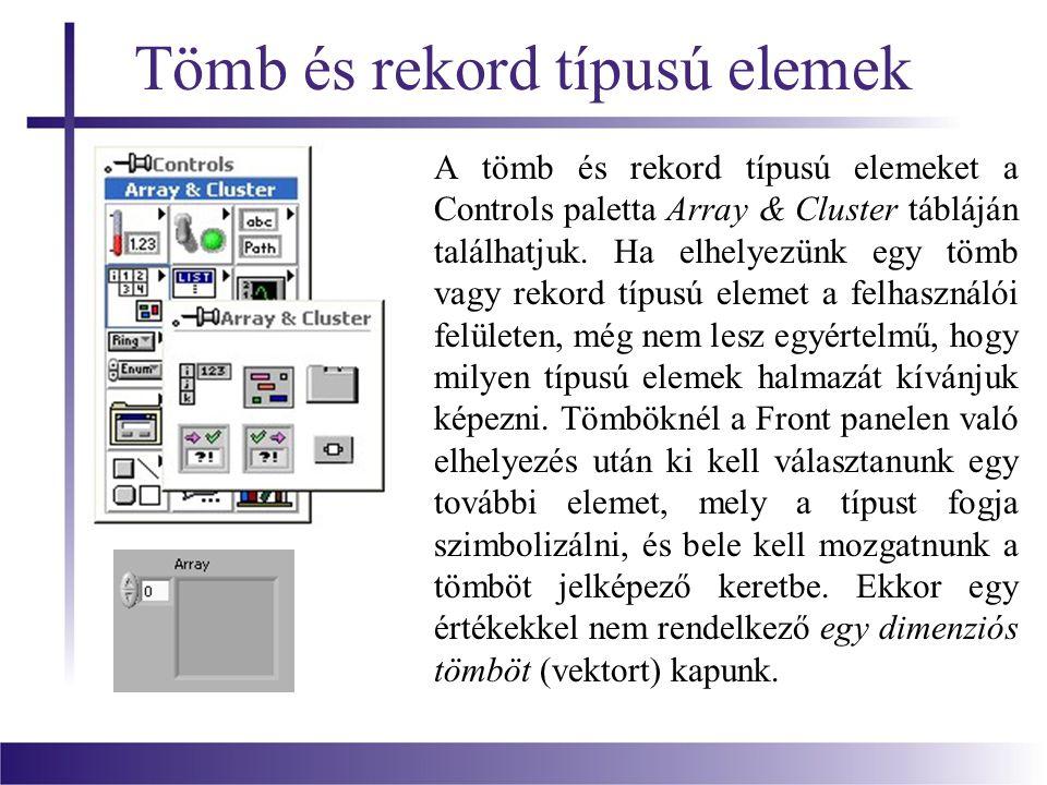Tömb és rekord típusú elemek
