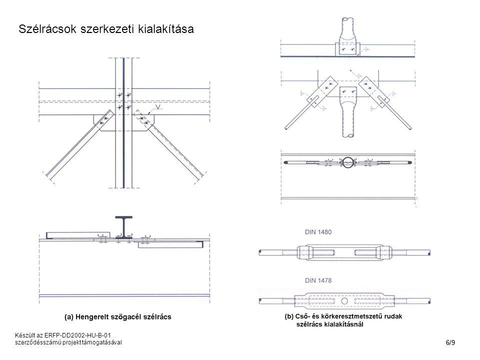 Szélrácsok szerkezeti kialakítása