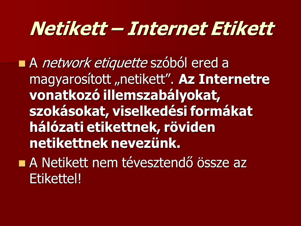 Netikett – Internet Etikett
