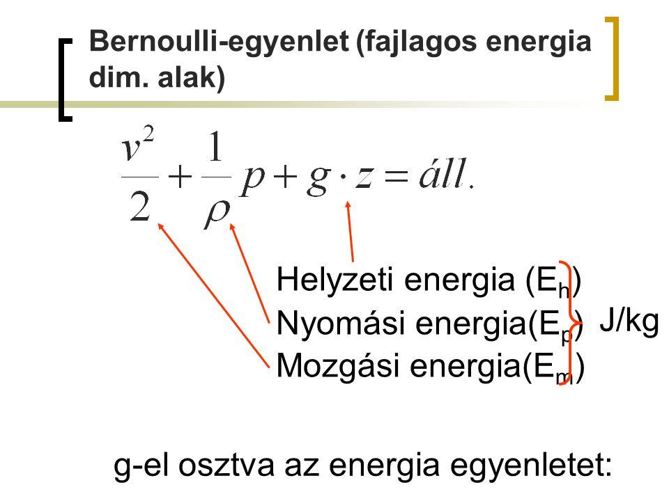 g-el osztva az energia egyenletet: