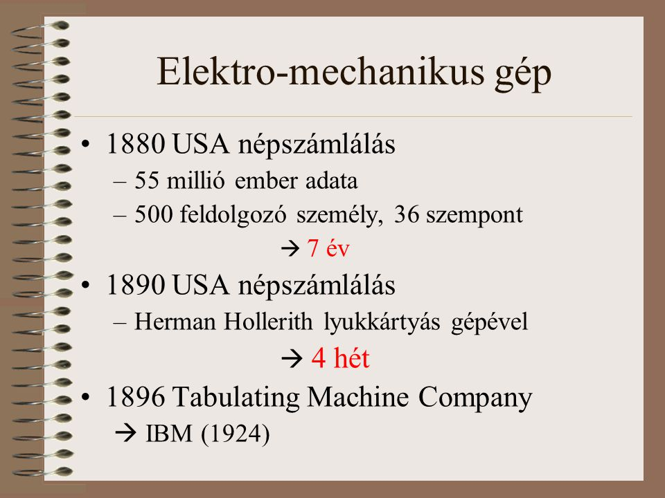 Elektro-mechanikus gép