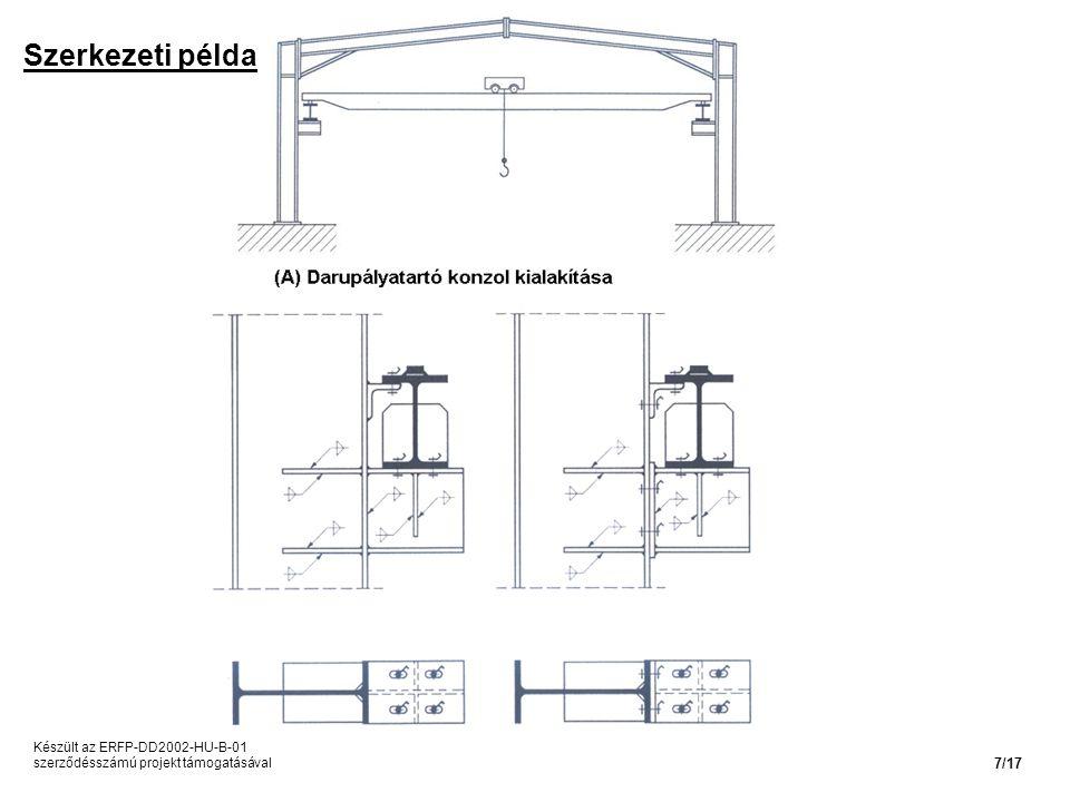 Szerkezeti példa Készült az ERFP-DD2002-HU-B-01 szerződésszámú projekt támogatásával 7/17