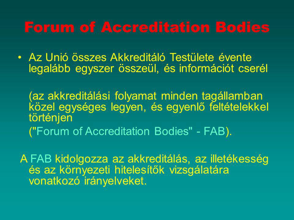 Forum of Accreditation Bodies