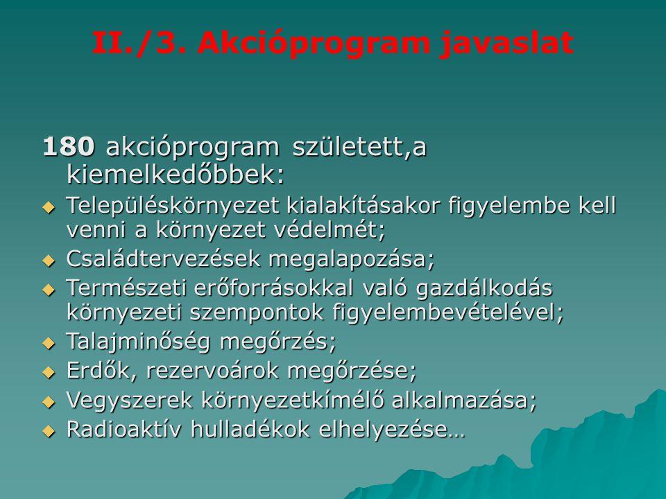 II./3. Akcióprogram javaslat